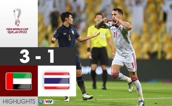 VIDEO Highlights:  ĐT UAE 3-1 ĐT Thái Lan | Bảng G Vòng loại World Cup 2022 khu vực châu Á