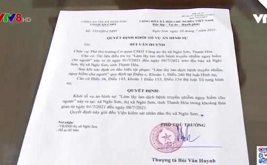 Khởi tố vụ án làm lây lan dịch bệnh tại Thanh Hoá