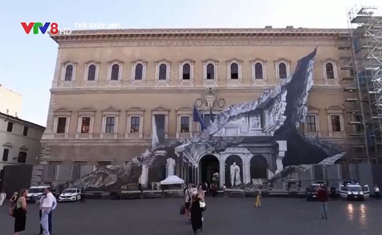 Tác phẩm tranh tường 3D độc đáo tại Italia
