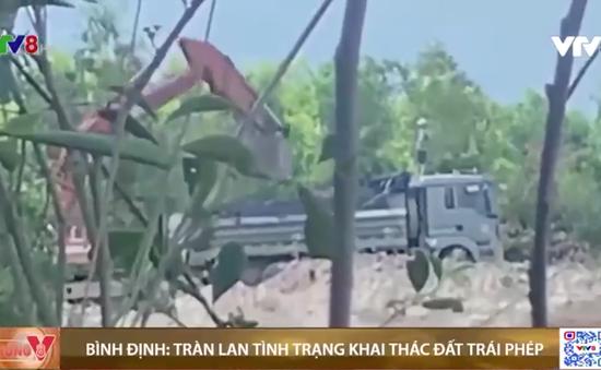 Bình Định: Báo động tình trạng khai thác đất trái phép