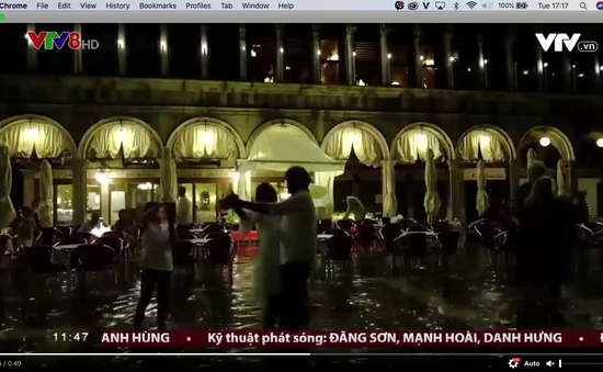 Ngập lụt bất thường tại Venice, Italia