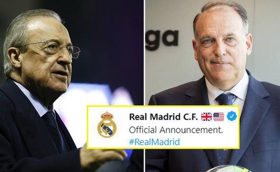 Real Madrid khởi kiện chủ tịch giải VĐQG Tây Ban Nha: La Liga trước giông bão!