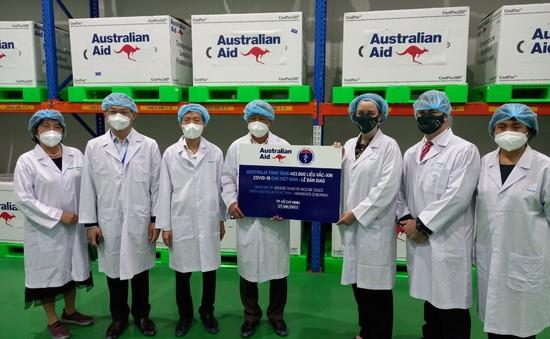 Bộ Y tế tiếp nhận 403.000 liều vaccine từ Chính phủ Australia