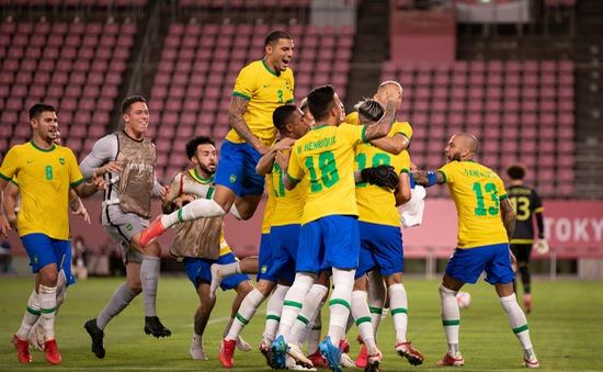 VIDEO Loạt đá luân lưu Olympic Mexico 0-0 (1-4 pen) Olympic Brazil | Bán kết bóng đá nam Olympic Tokyo 2020