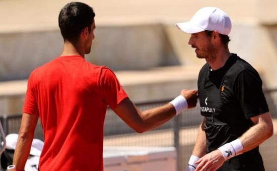 Trước thềm Mỹ mở rộng: Novak Djokovic tập luyện cùng Andy Murray