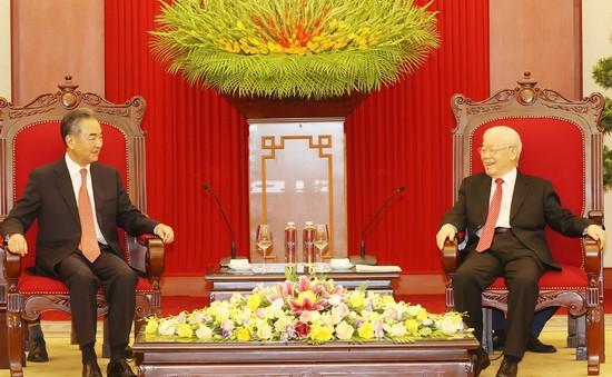 Tổng Bí thư tiếp Bộ trưởng Bộ Ngoại giao Trung Quốc