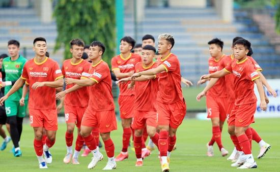 Các cầu thủ ĐT U22 Việt Nam nỗ lực ghi điểm để cạnh tranh suất tham dự Vòng loại U23 châu Á 2022