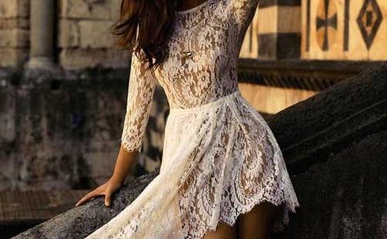 Gợi cảm thu về với váy ren