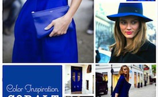 Gu thời trang thời thượng với gam màu xanh cobalt