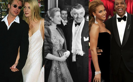 21 cặp đôi Hollywood từng sánh bước trên thảm đỏ Oscar