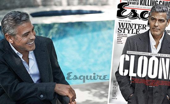 """George Clooney tiếp tục """"hút hồn"""" phái nữ trên Esquire"""
