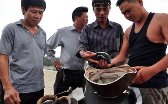 Phát hiện nhiều mảnh vỡ cổ vật ở vùng biển Quảng Ngãi