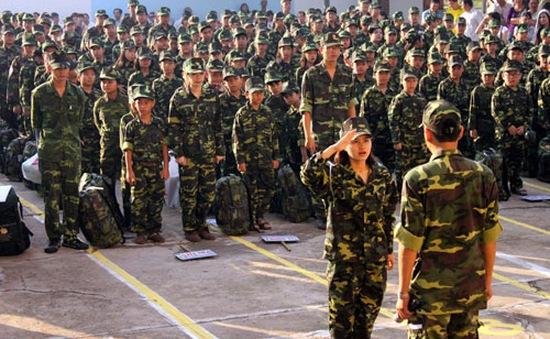 Đà Nẵng: Đón 86 học viên trong học kỳ quân đội 2014