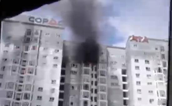 Cháy tại tòa cao ốc Copac 22 tầng, Quận 4, TP.HCM