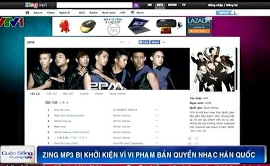 Zing MP3 bị khởi kiện vì vi phạm bản quyền nhạc Hàn Quốc
