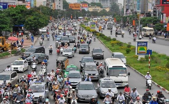 Hà Nội: Phân luồng giao thông khu vực thi công tuyến đường sắt đô thị