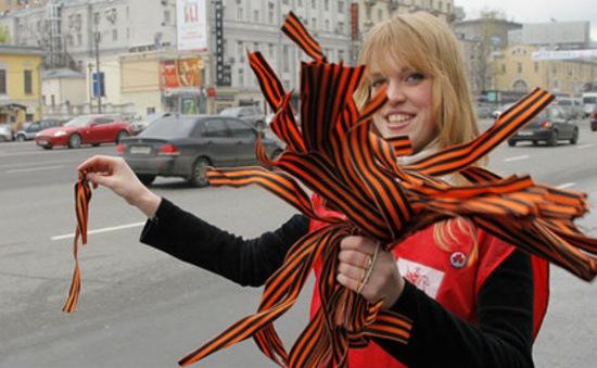 Nước Nga sôi nổi Phong trào Dải băng Chiến thắng 2013