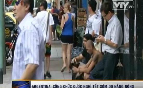 Argentina: Công chức được nghỉ Tết sớm do nắng nóng