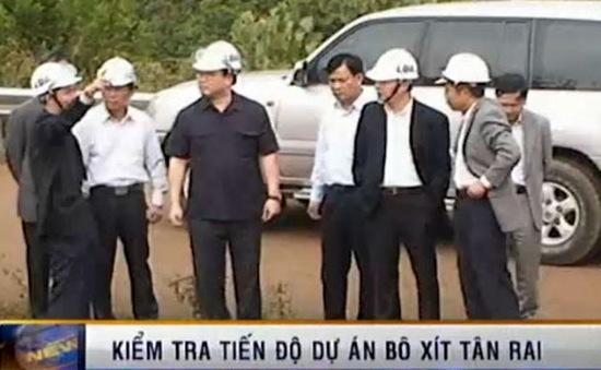 Kiểm tra tiến độ triển khai dự án bauxite Tân Rai