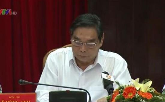 Đồng chí Lê Hồng Anh làm việc với Thành ủy Đà Nẵng