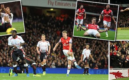 """Bắn hạ"" Liverpool, Arsenal tiếp tục thống trị Premier League sau vòng 10"