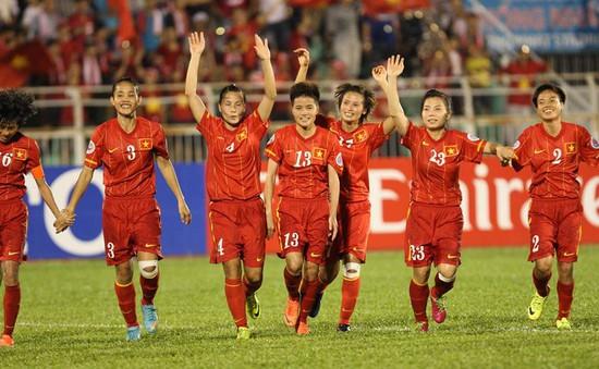 """VCK bóng đá nữ châu Á: ĐT nữ VIệt Nam được """"thưởng nóng"""" 300 triệu VND"""