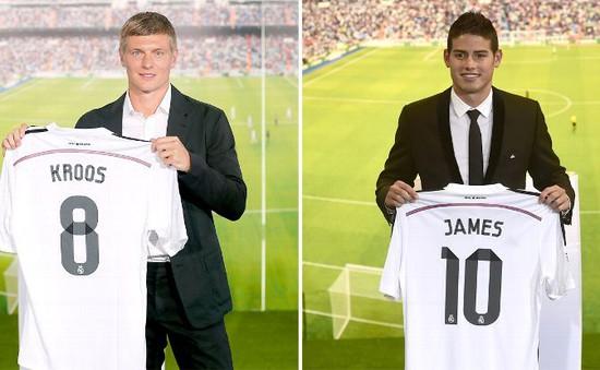 James Rodriguez và Toni Kroos sẽ chính thức trình làng tại Siêu cúp châu Âu