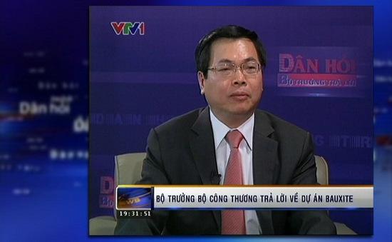VIDEO: Bộ trưởng Bộ Công thương trả lời về dự án bô-xít