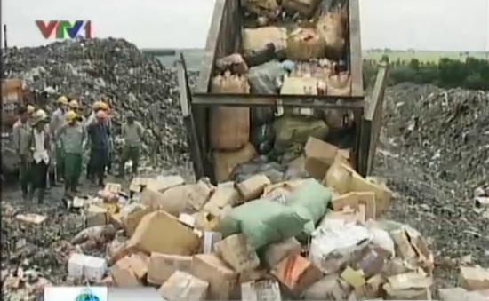 Hà Nội tiêu hủy gần 400 tấn hàng vi phạm