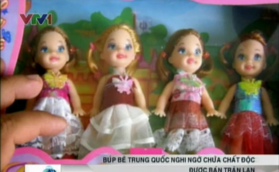 Tràn lan búp bê Trung Quốc nghi ngờ chứa chất độc hại