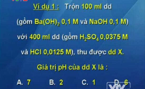 BTKT môn Hóa học: Phương trình ion