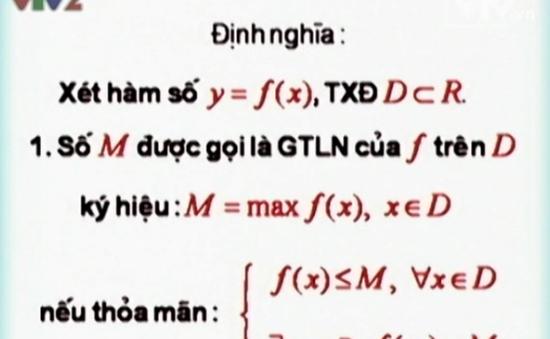 BTKTVH: Giá trị lớn nhất và nhỏ nhất của hàm số