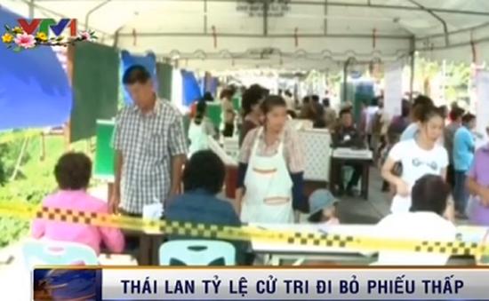 Tỷ lệ cử tri đi bỏ phiếu tại Thái Lan thấp