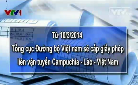 Từ 10/3: Cấp giấy phép liên vận Campuchia - Lào - Việt Nam