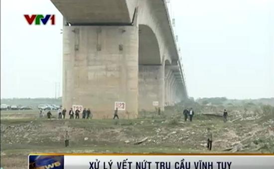 Xử lý vết nứt cầu Vĩnh Tuy