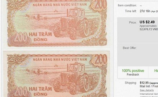 Tiền lẻ 200 đồng Việt Nam đắt gấp 250 lần trên Ebay