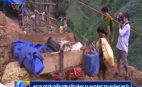 Nguy cơ tái diễn cơn sốt vàng sa khoáng tại Quảng Ngãi