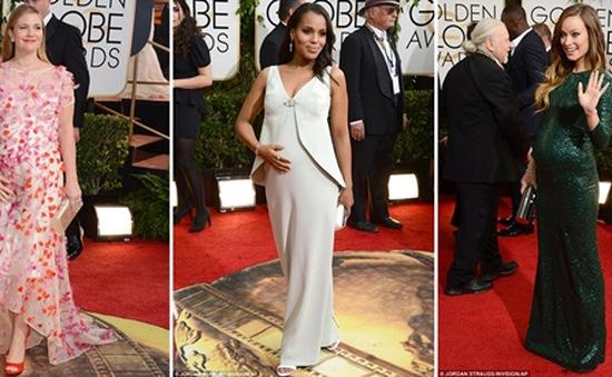 """Ngắm những bà bầu đẹp nhất trên thảm đỏ """"Quả cầu vàng 2014"""""""