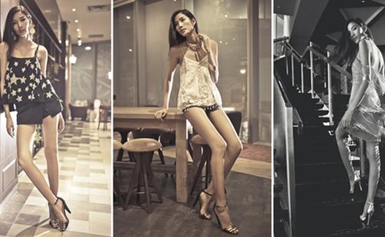 Hoàng Thùy khoe vẻ quyến rũ với thời trang Kate Moss