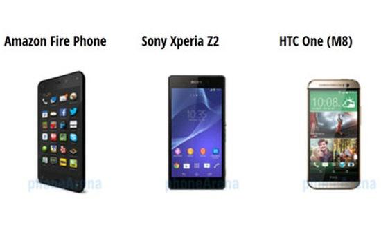 Chọn Fire Phone, Xperia Z2 hay HTC One M8?