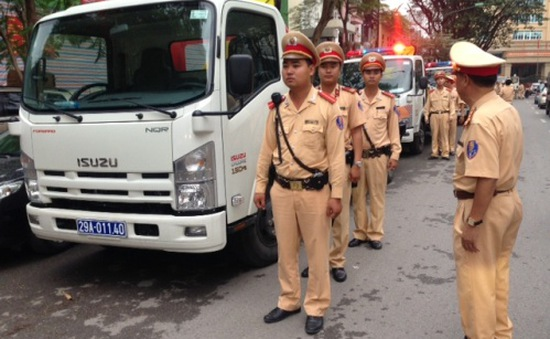 CSGT Hà Nội sẵn sàng ứng phó cơn bão số 2