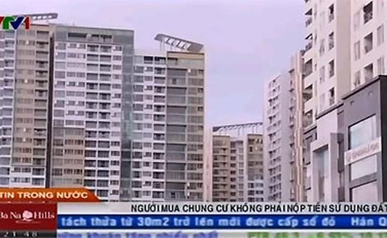 Người mua chung cư không phải nộp tiền sử dụng đất