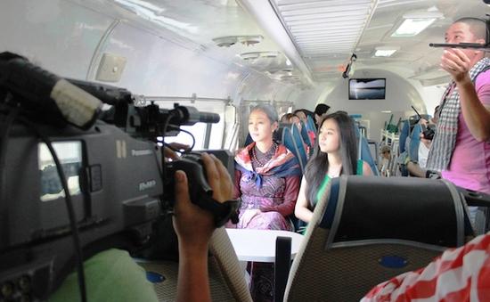 Khánh My hóa thân thành bà già 70 tuổi trong Mỹ nhân Sài Thành