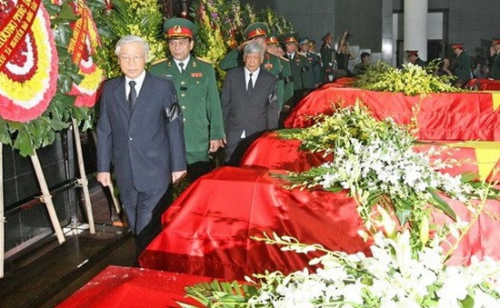 Lễ truy điệu sỹ quan, quân nhân hy sinh trong vụ rơi máy bay Mi-171