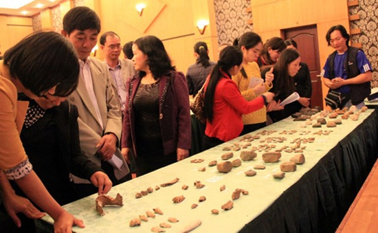 Phát hiện nhiều di vật của người Việt cổ tại Thanh Hóa