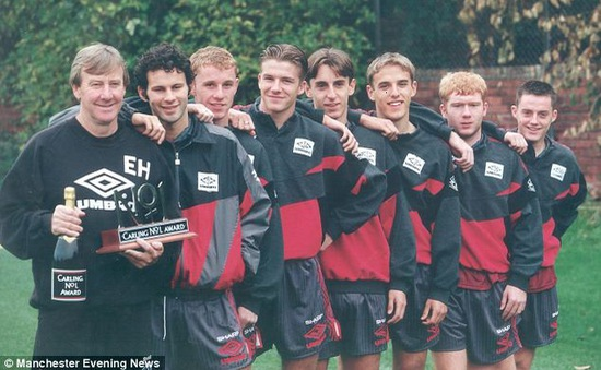 """""""Thế hệ vàng 1992"""" của Man Utd và những con số"""