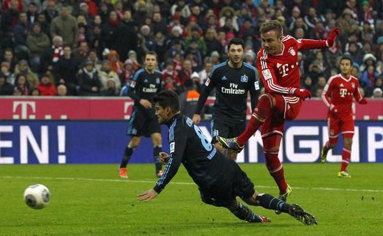"""Bayern 3–1 Hamburg: """"Hùm xám"""" vô địch mùa Đông"""