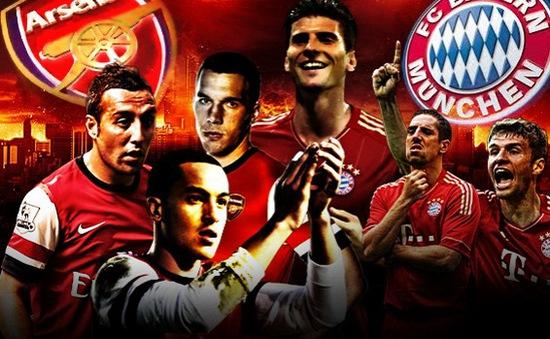 2h45 ngày 12/3, VTV3 Trực tiếp Bayern Munich - Arsenal