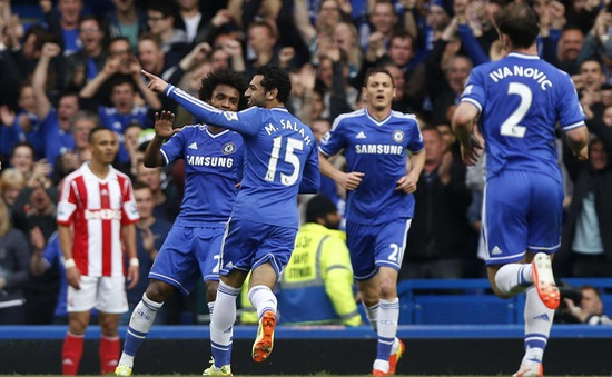 Chelsea 3-0 Stoke: Mou-Team thắng dễ nhờ dự bị (VIDEO)