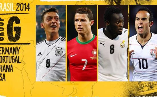 World Cup 2014: Bảng G - Hiểm hoạ tiềm ẩn
